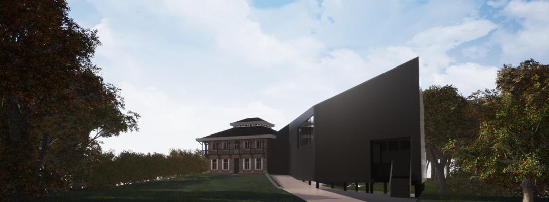 Visualisatie van de nieuwbouw - achterzijde